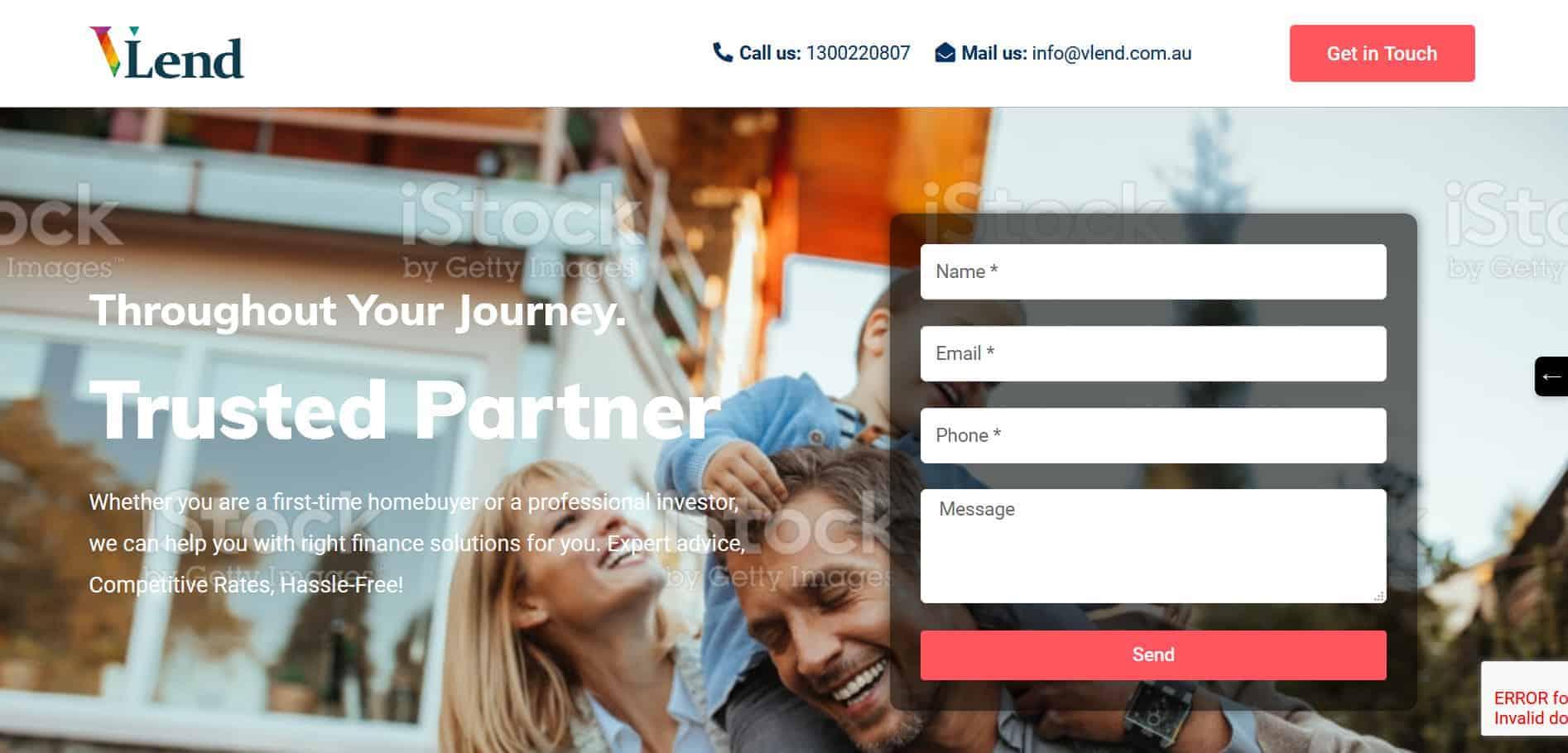 Screenshot 2020 08 05 Vlend – Mortgage Broker Melbourne