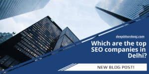Top SEO companies in Delhi
